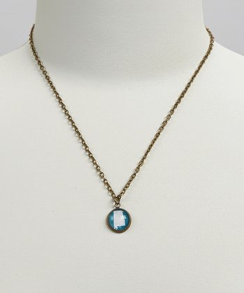 Turquoise & White Alabama Pendant Necklace