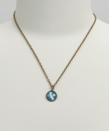 Turquoise & White California Pendant Necklace