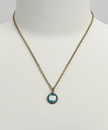 Turquoise & White Colorado Pendant Necklace
