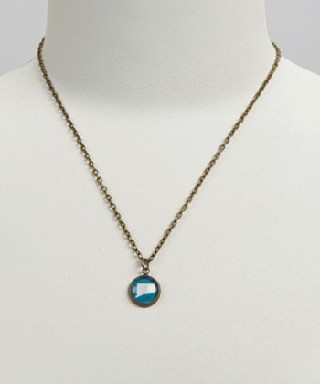 Turquoise & White Connecticut Pendant Necklace