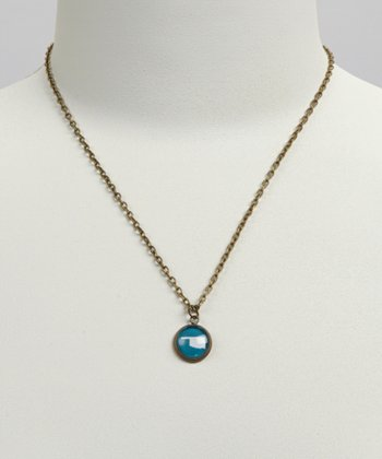 Turquoise & White Oklahoma Pendant Necklace