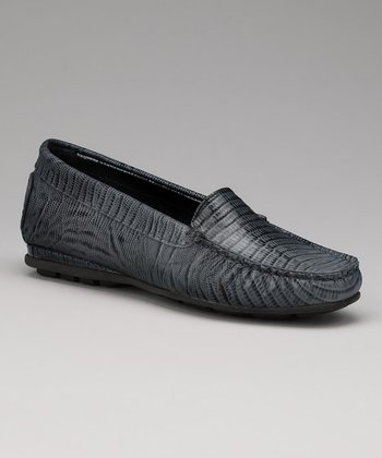 Black Lizard Holly Loafer