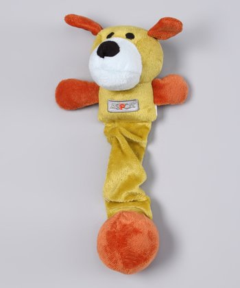 Green & Brown Dog Plush Dog Toy