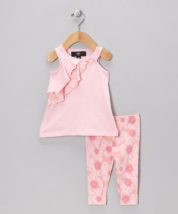 Pink Chrissy Tunic & Leggings - Infant, Toddler & Girls
