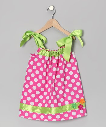 Pink Polka Dot Swing Dress - Infant, Toddler & Girls