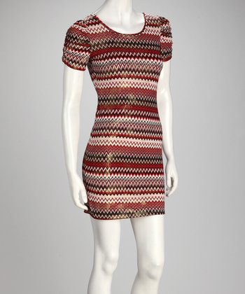 Red Zigzag Dress