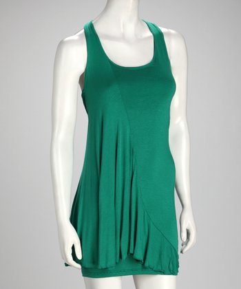 Green Scoop Neck Dress