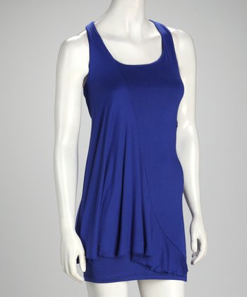 Royal Scoop Neck Dress