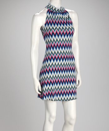 Royal & Pink Chevron Dress