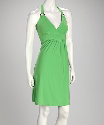Lime Halter Dress