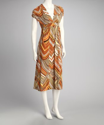 Orange & Yellow Stripe Dress