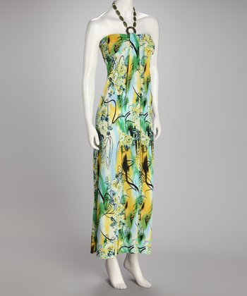 Lime & Yellow Floral Maxi Dress