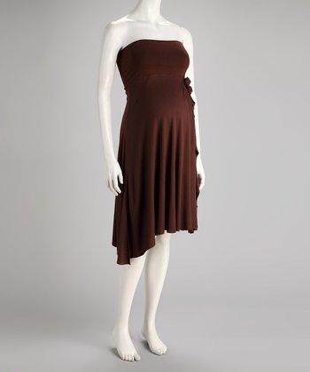 Chocolate Convertible Maternity Dress