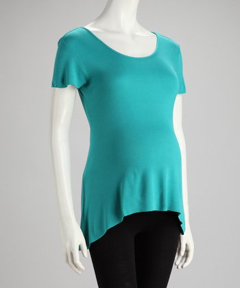 Ocean Maternity Short-Sleeve Top