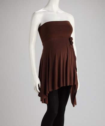 Chocolate Convertible Maternity Tunic