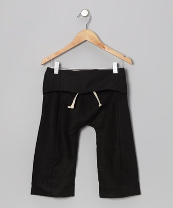 Black Fripp Island Fisherman Linen-Blend Pants - Toddler & Kids