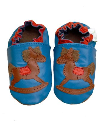 Blue Rocking Horse Booties