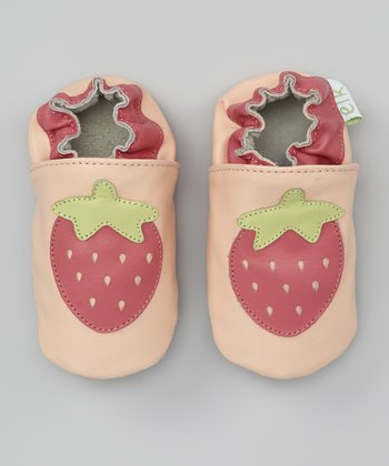 Pink Strawberry Booties