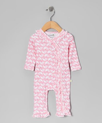 Pink Elephant Ruffle Playsuit