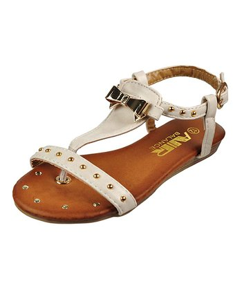 Off-White Stud Bow Sandal