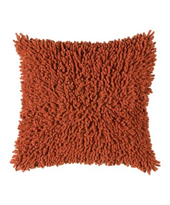 Paprika Shag Pillow