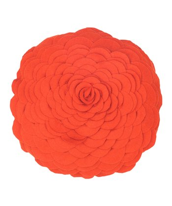 Orange Petal Throw Pillow