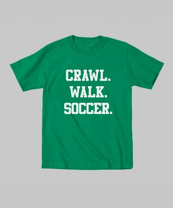 Kelly Green 'Crawl. Walk. Soccer.' Tee - Toddler & Kids