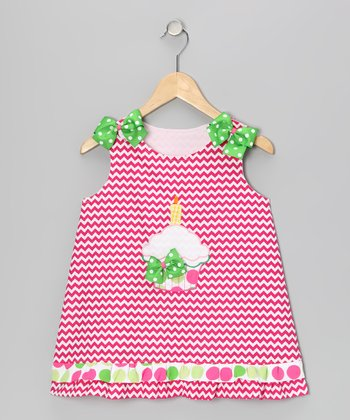 Pink Zigzag Cupcake Jumper - Infant, Toddler & Girls