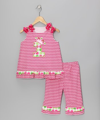 Pink Zigzag Top & Ruffle Pants - Infant