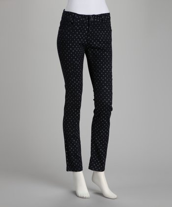 Black Polka Dot Spell Talk Skinny Pants