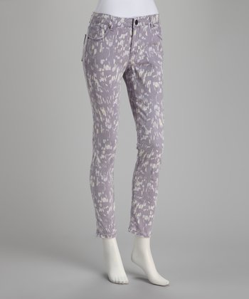 Gray Nightshade Cropped Pants