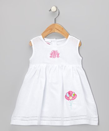 White Balloons Monogram Dress - Infant & Toddler