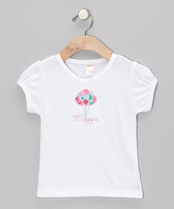 White Balloons Personalized Tee - Infant
