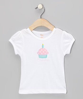 White Cupcake Personalized Tee - Infant