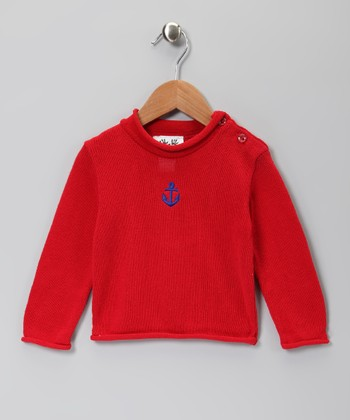 Red Anchor Long-Sleeve Tee - Infant, Toddler & Kids