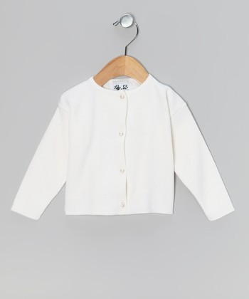 Ivory Pearl Button Cardigan - Infant & Girls
