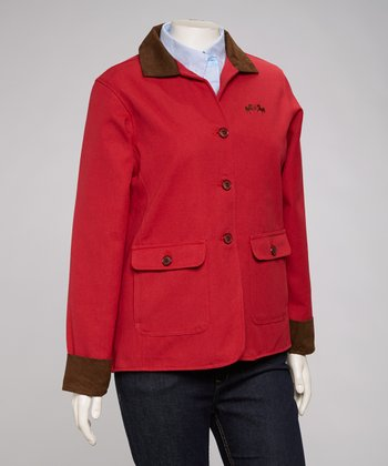 Red & Chocolate Cambridge Barn Coat - Women & Plus