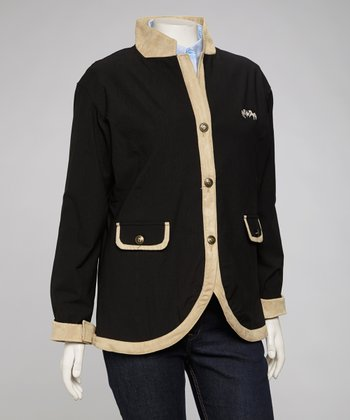 Black & Light Tan Parisian Jacket - Women & Plus