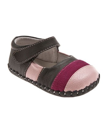 Brown & Pink Stripe Mary Jane