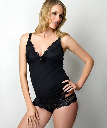 Black Ruffle My Feathers Maternity Briefs - Women