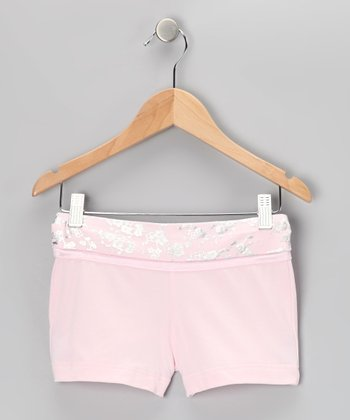 Dreamy Pink Dance Diva Shorts - Girls