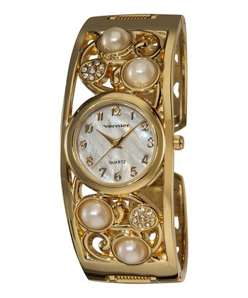 Gold Vine Bangle Watch