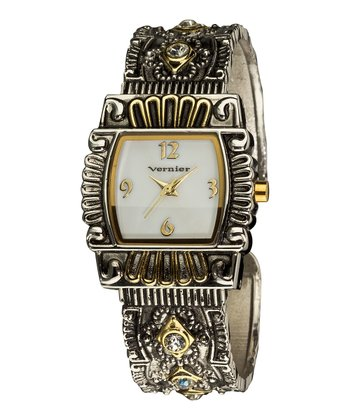 Antique Gold & Silver Bangle Watch