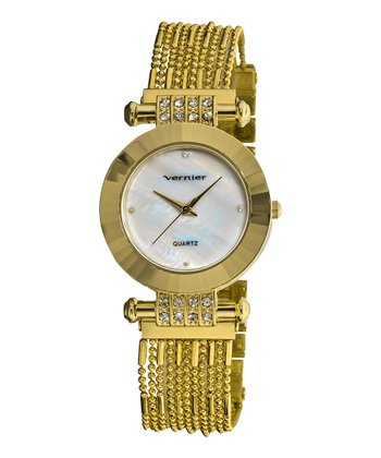 Gold Chain Bracelet Watch