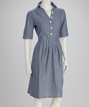 Blue Toe the Line Dress