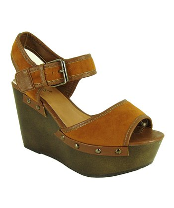 Rust Velvet Fifi Wedge Sandal