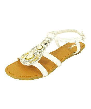 White Gleam Strap Sandal