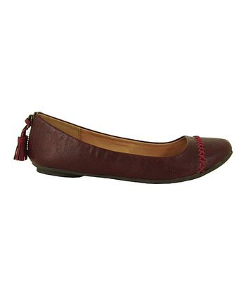 Burgundy Distress Thesis Flat