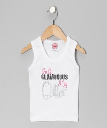 White 'I'm So Glam' Tank - Infant, Toddler & Girls