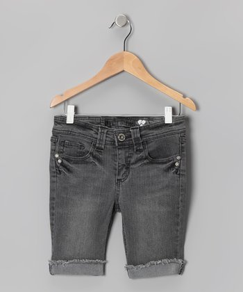 Berlin Gray Wash Flap-Pocket Bermuda Shorts
